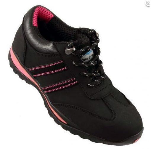 Urgent cipő Lady 214 S1 fekete-rózsaszín