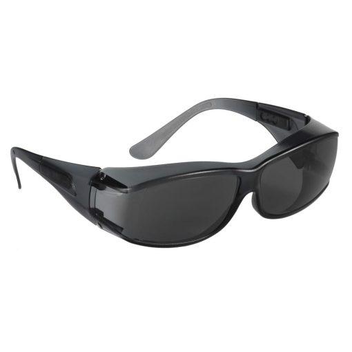 Guestlux - színezett karcmentes védőszemüveg sötét keret