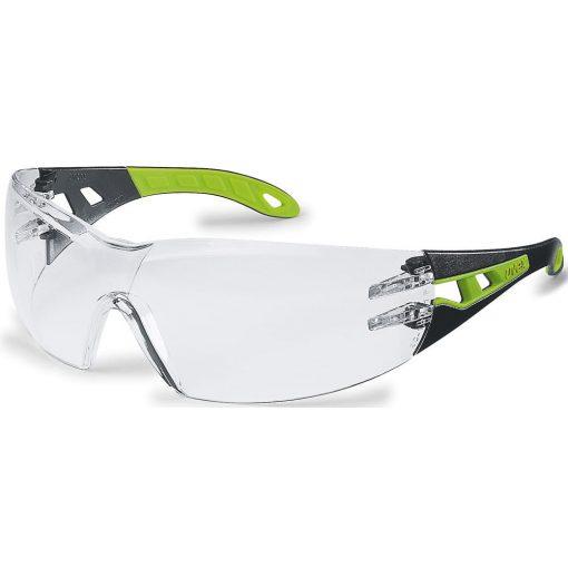 Uvex pheos szemüveg, fekete/lime szár, víztiszta lencse