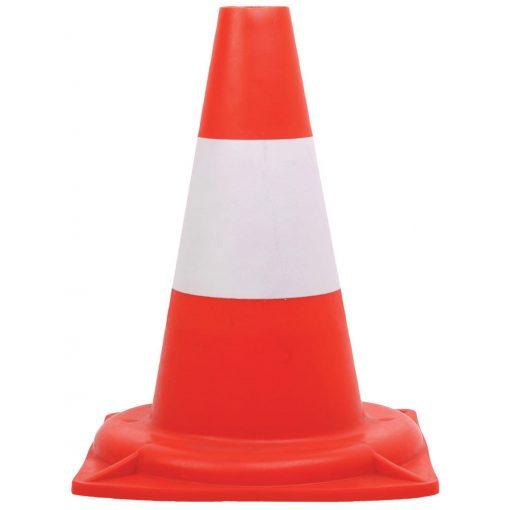 Közúti jelzőbója piros/fehér 30cm